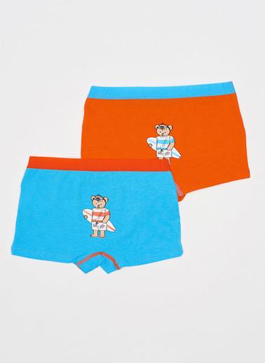 Katia & Bony Bear Erkek Çocuk 2'Li Boxer  Oranj
